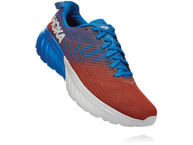 Hoka One One Mach 3 Zapatillas Hombre, imperial blue/mandarin red
